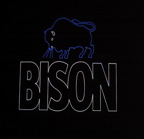 Bison Lijmen in Lasershow